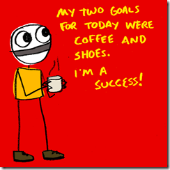coffee and shoes